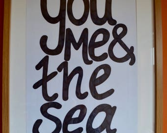 You Me & The Sea print; A3, A2 or A1