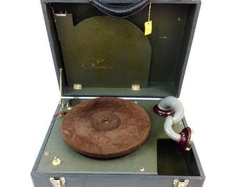Vintage Waters Conley Phonola Electric S-50 Phonograph Record Player Portable 78