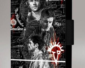 Supernatural Vampire Fantasy Winchester Art Flip Wallet Leather Phone Case Cover