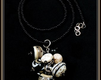 Lampwork Glass Bead Bauble Necklace