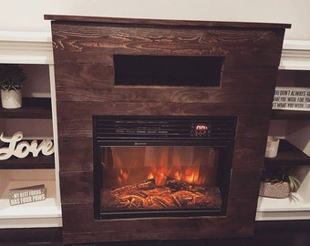 Handcrafted Entertainment Center with Fireplace