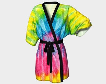 Tiedye Butterfly Wing, Kimono Robe, Dressing Gown, Bridesmaid Robe, Coverup, Spa Robe, Swimsuit Coverup, Robe, tiedye, butterfly robe
