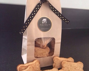 Dog Treats - Homemade Grain Free Apple Peanut Butter Biscuits