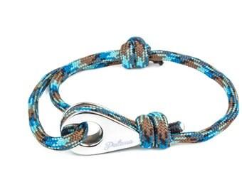 HONOLULU - Blue Paracord Pulley Bracelet -- Bangles, Bracelets Joncs, Charm Bracelets, Bracelets Charms, Leather Bracelet, Bracelet cuir