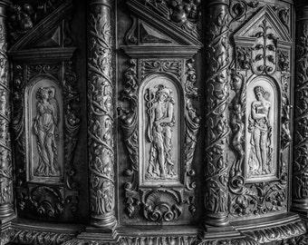 Wood Carving Detail, Chateau De Blois, Loire Valley Print, Loire Valley Wall Art, Fine Art Photo, France Print, Home Decor