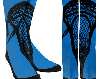 Lacrosse Crew Socks - Lacrosse Socks - Crew Socks - Novelty Socks - Unique Socks - 100% Comfort - FREE Shipping
