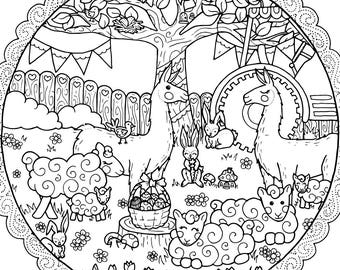 cute farm coloring page for adults farm adult coloring farm adult coloring book