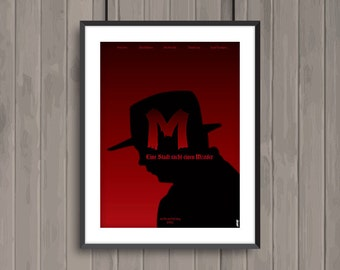 M Eine Stadt einem Mörder, minimalist movie poster