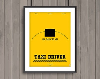 TAXI DRIVER, minimalist movie poster