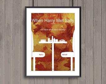 When Harry Met Sally, minimalist movie poster