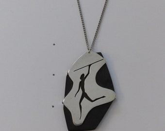 Necklace Pendant Sterling Silver Cut-Out on Basinite 2