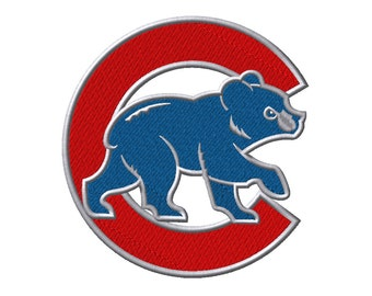 8 SIZES! Chicago Cubs Embroidery Designs Major Baseball Embroidery Designs PES Digital Machine Embroidery Instant Download