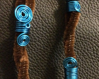 Beautiful blue loc jewelry set