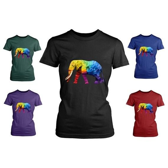 Womens elephant tee shirt elephant gifts elephant print for Elephant t shirt women s