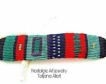 Macrame  bracelet ,Macrame micro macrame , Bohemian bracelet, ethnic bracelet , tribal , boho chic bracelet ,