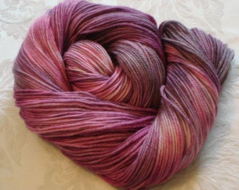 POLWARTH SILK Dk yarn, Polwarth wool, Silk, Color - Pink Passion