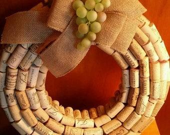 Customized Designed Wine Cork Wreath (Indoor)