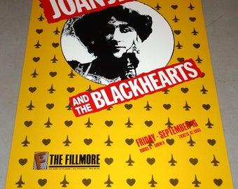 Joan Jett and the Blackhearts @ The Fillmore September 16, 1988 Concert Poster