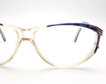 Plastic 90s Royal Blue, Lavender and Pink Eyeglasses Vintage Glasses Frames Eyewear Nerd Hipster Eye Glasses Oversized