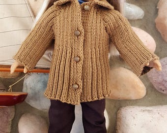 American Girl 18 in Doll Hand Knit Sweater Coat
