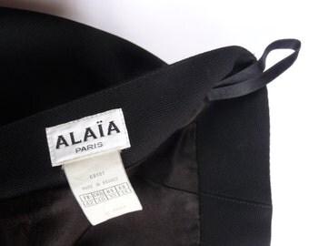 ALAIA SKIRT WOOL 80's vintage design