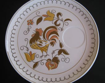 """Mikasa Tamago Pattern 3107-W, Cera-Stone by Jonas Roberts, 9"""" Snack or Luncheon Plate with Chicken Design (Seven Available)"""