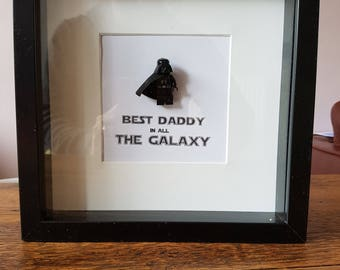 Star Wars//Darth Vader//Minifigures//Gift//Shadow Box Frame//Personalise//Geek//Love//Father//Daddy//Fathers Day//Birthday Gift//New dad