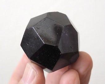 Garnet dodecahedron
