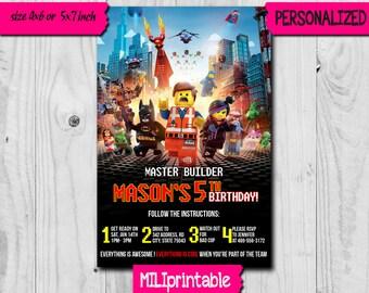 Lego Invitation / Lego Birthday Invitation / Lego Birthday / Lego Birthday Party / Lego Printable / Lego Card / Lego Invite / Lego Party