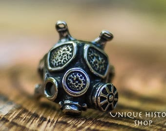 Gas Mask Ring Handmade Sterling Silver Unique Jewelry