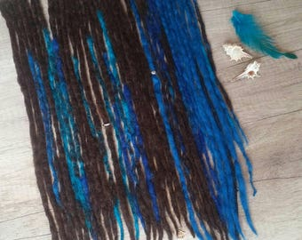 A set of wool dreadlocks