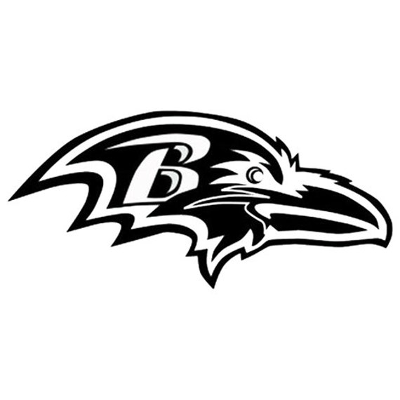 Vinyl Decal Sticker - Baltimore Ravens Decal for Windows, Cars, Laptops, Macbook, Yeti, Coolers, Mugs etc