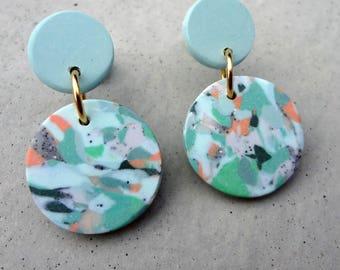 Bambino Earrings - Seaspray / Stud Earrings / Drop Earrings / Abstract Earrings / Modern Earrings