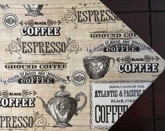 Coffee Theme Table Runner/Tea Theme Table Runner, Mocha Table Runner, Java Table Runner