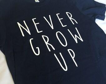Never Grow Up Shirt Navy Blue / Neverland Shirt / Peter Pan Shirt / Adult Disney Shirt / Men Disney Shirt / Women Disney Shirt /Disney Shirt
