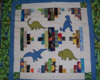 Dinosaur Baby Quilt #139