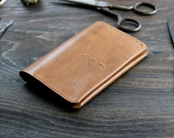 Bifold Leather Wallet, Efes Tan Brown Leather Wallet, Leather Card Holder, Travel Wallet, Simple wallet leather, Men's Wallet, Gift for him