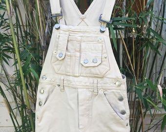 Vintage Khaki Overalls (Size XS)
