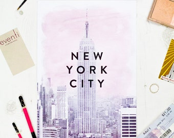 NEW YORK CITY Pretty in Pink - Blush Pink - Pretty Interior Print