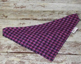 Harris Tweed bandanas, with ties or without ties. kerchief, neckerchief, dog accessory
