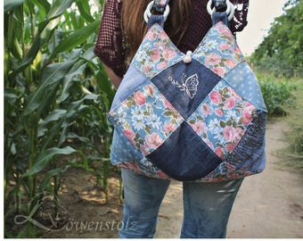 Jeans bag, jeans, cotton, Upcycling