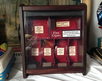 Vintage Cigar Shop Display Cabinet