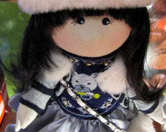 Textiles, doll was handmade, gift girl doll gift