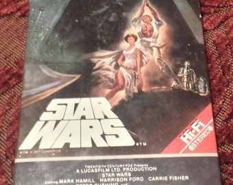 Vintage 1977 Original Star Wars Movie Release on BETA Format - Rare (1984 Hi-Fi Stereo Release)