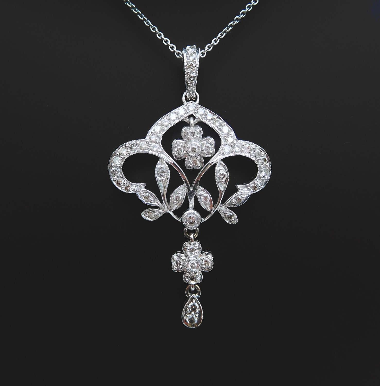 ... diamond pendant, diamond necklace wedding gift, large diamond pendant
