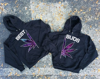 Best Buds - best couples hoodie - unisex hoodie - gift for her and for him - couples apparels