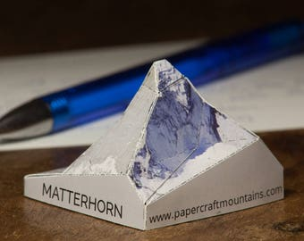 Matterhorn, postcard papercraft scale model
