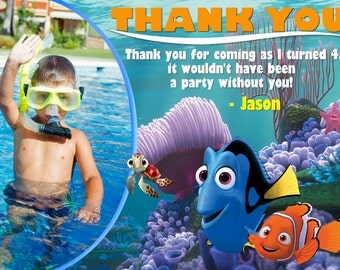 Finding Nemo Thank You Card Finding Nemo Birthday Party