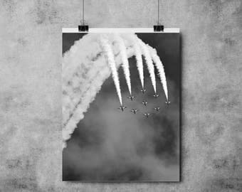 Planes - Black and White Print - Jets- A4/A3 - Sky / Print / Poster / Flying