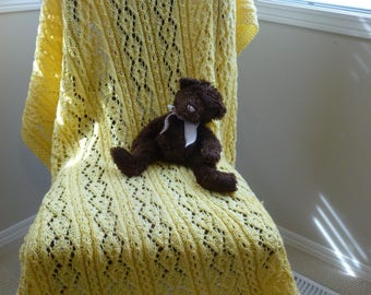 Yellow Knit Blanket